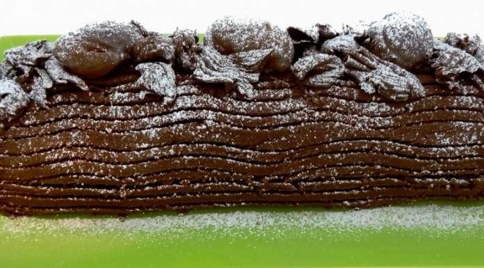 B che de no l aux marrons sans gluten la tendresse en cuisine - Buche aux marrons sans cuisson ...