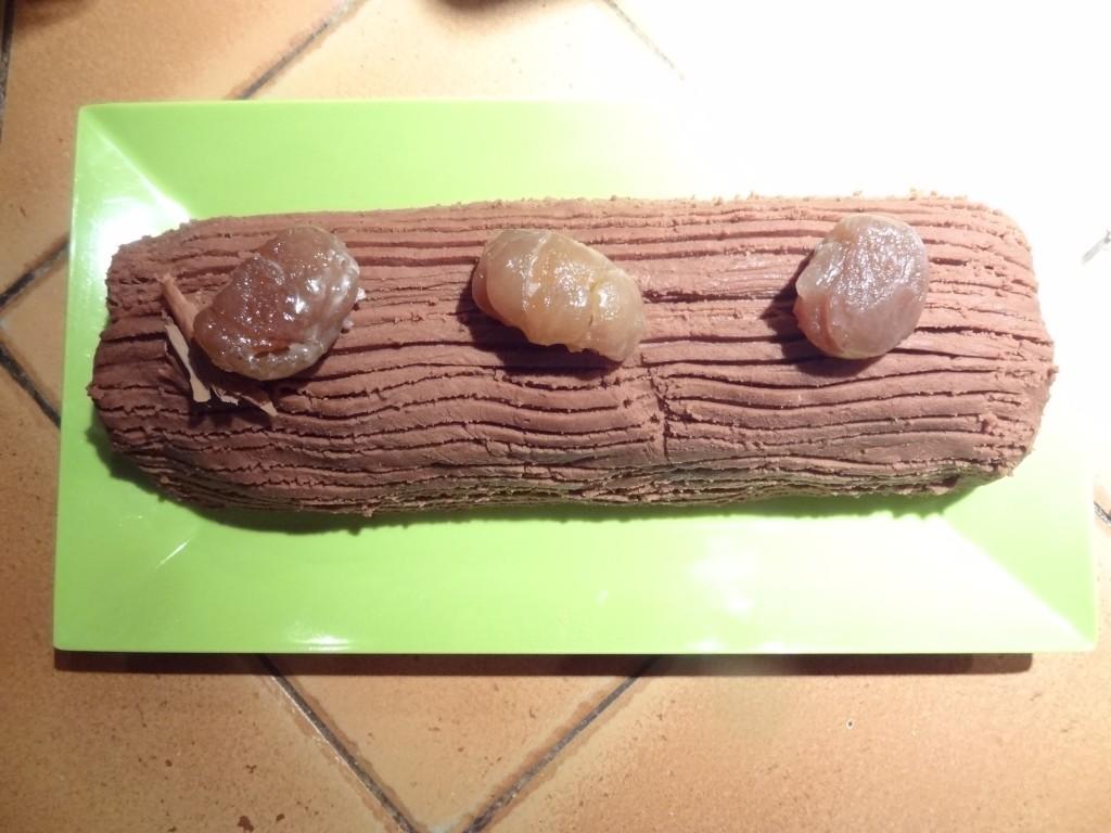 Bûche de Noël aux marrons sans gluten 14