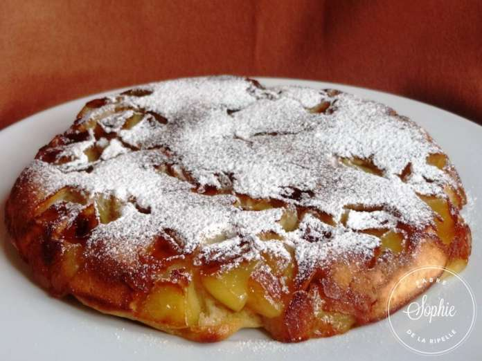 G teau aux pommes la po le la tendresse en cuisine - Mesurer sucre sans balance ...