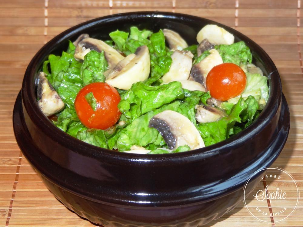salade aux champignons crus la tendresse en cuisine. Black Bedroom Furniture Sets. Home Design Ideas