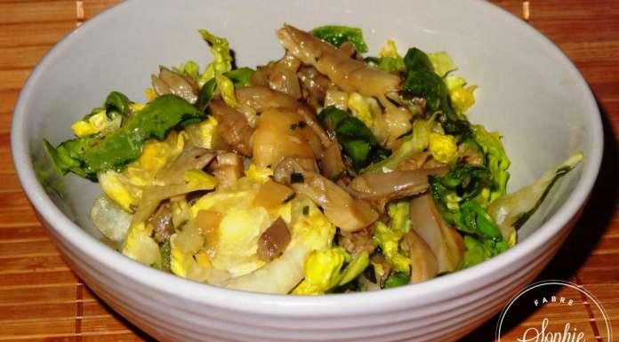 Salade Aux Pleurotes La Tendresse En Cuisine - Comment cuisiner les pleurotes