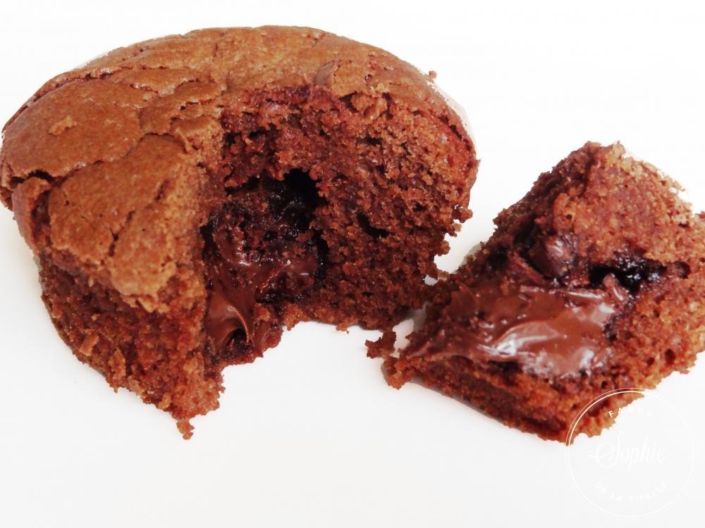 Muffins chocolat au coeur de nutella la tendresse en cuisine for Au coeur de la cuisine