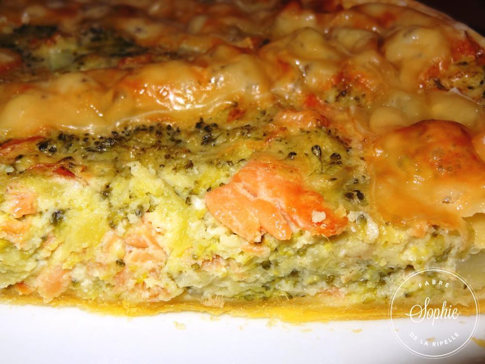 Quiche brocolis saumon fum la tendresse en cuisine - Cuisiner des brocolis ...