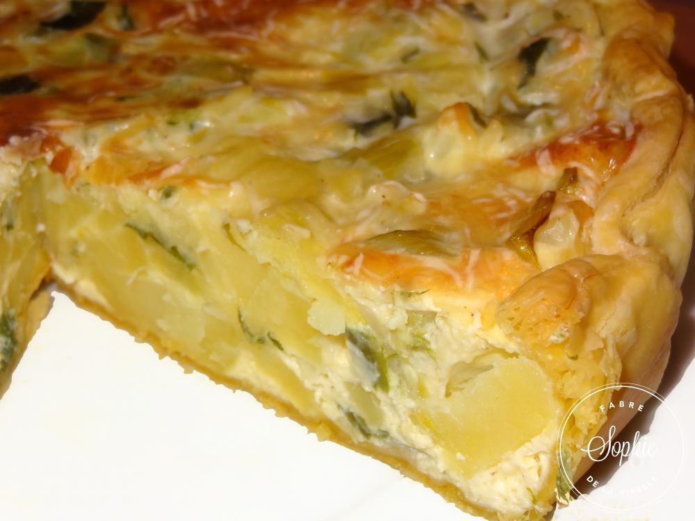 Quiche poireaux pommes de terre la tendresse en cuisine - Tarte aux poireaux sans creme ...