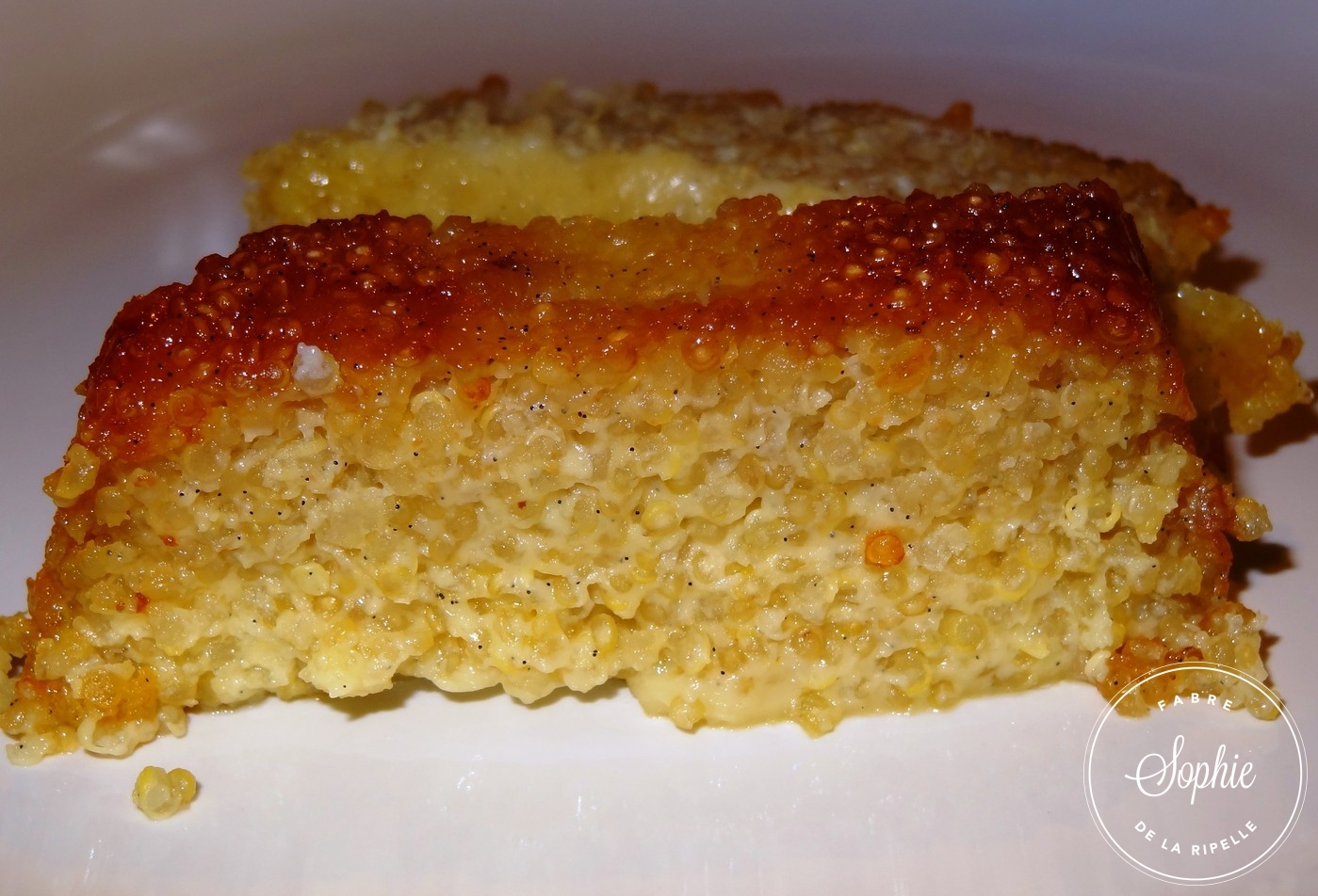 G teau de quinoa au caramel la tendresse en cuisine - Comment cuisiner le quinoa recettes ...
