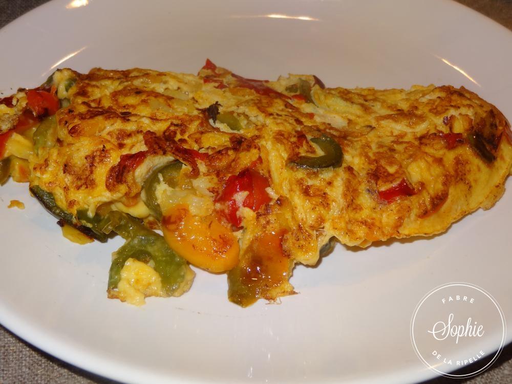omelette aux poivrons et pomme de terre la tendresse en cuisine. Black Bedroom Furniture Sets. Home Design Ideas