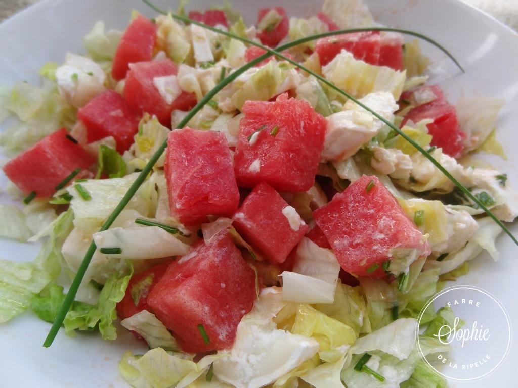 Salade de past que au ch vre la tendresse en cuisine - Salade de pasteque ...