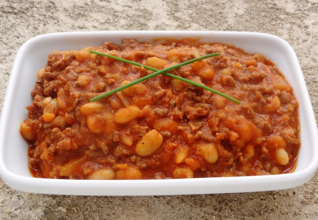 Rago t de viande hach e aux haricots blancs la tendresse - Cuisiner viande hachee ...