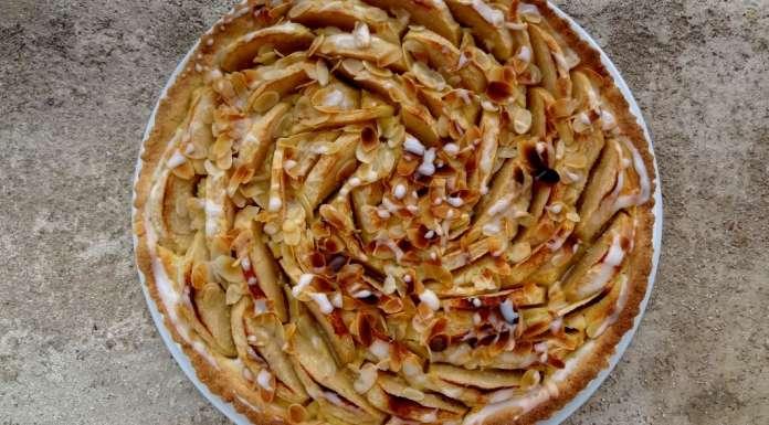 Tarte amandine aux pommes sans gluten 0