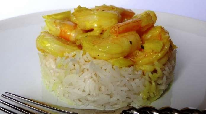 Curry aux crevettes et lait de coco 0