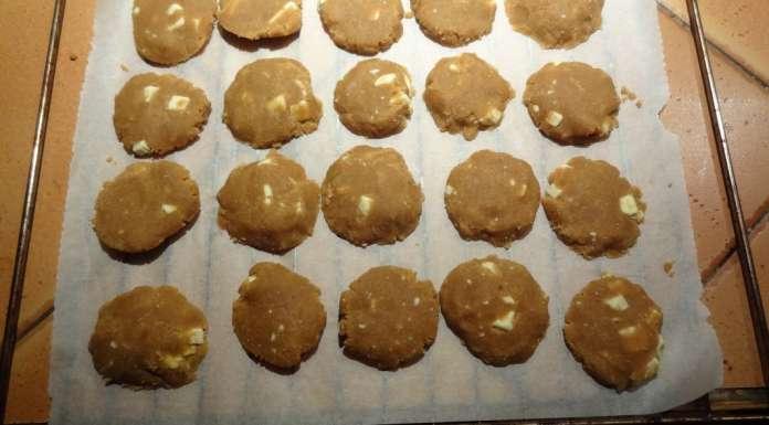 Biscuits beurre de cacahètes et chocolat blanc 4