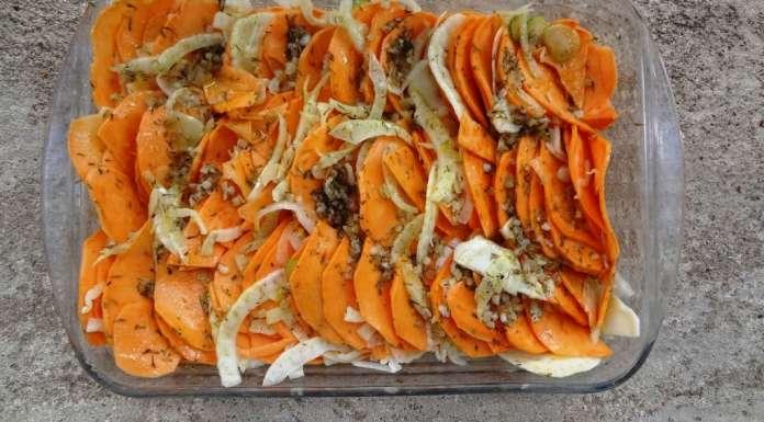 Gratin de patate douce et fenouil 13