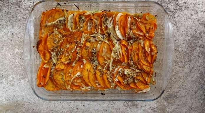 Gratin de patate douce et fenouil 14