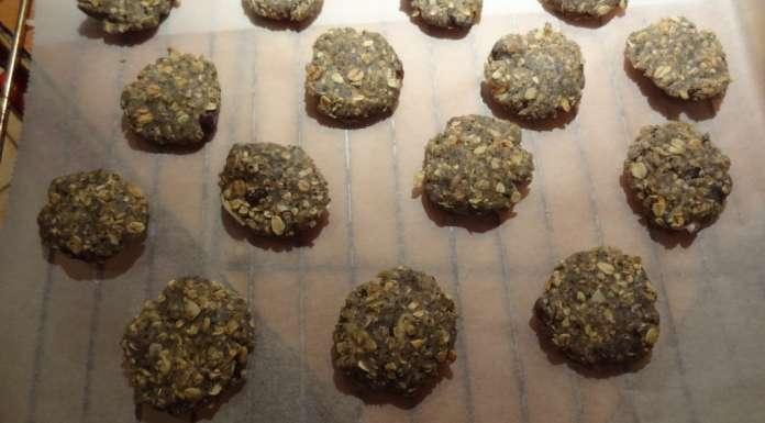 Biscuits à l'avoine et sésame en poudre 8
