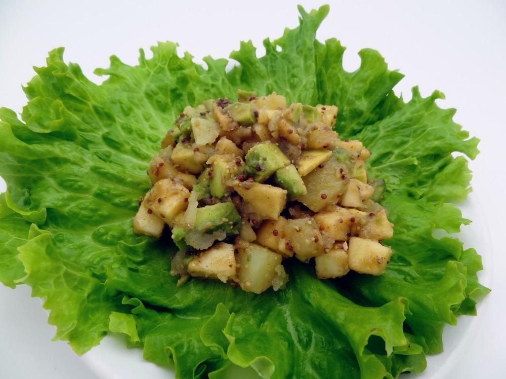 Salade aux deux pommes avocat la tendresse en cuisine for Salade entree originale