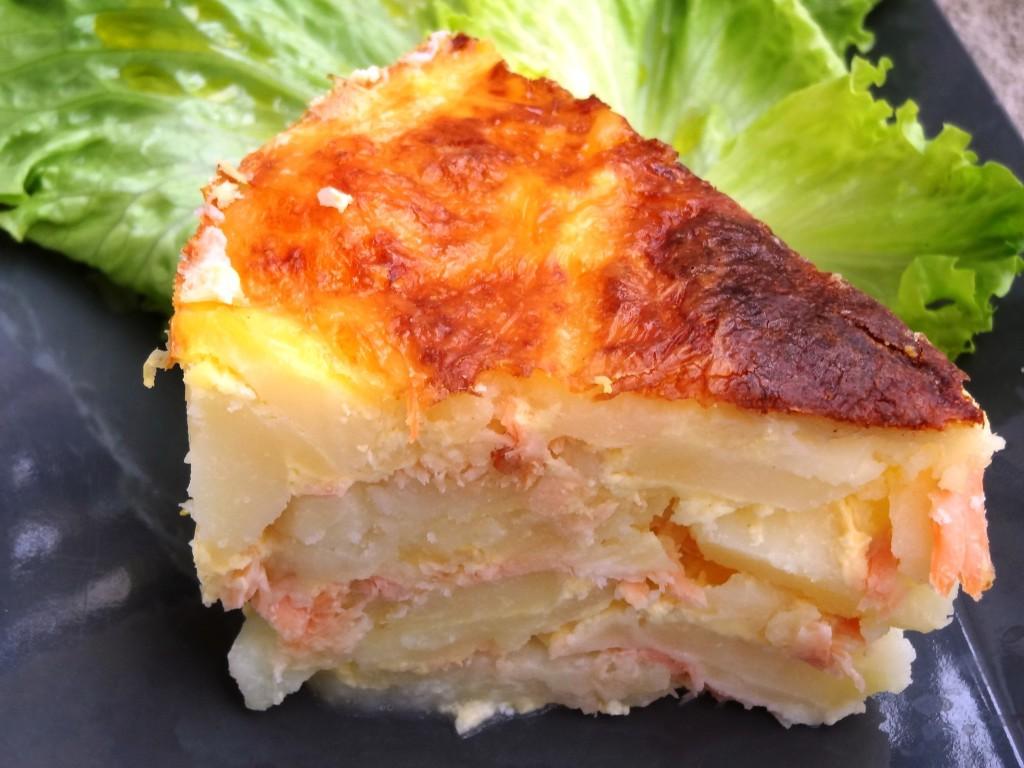 gratin de pommes de terre saumon mozzarella la tendresse en cuisine. Black Bedroom Furniture Sets. Home Design Ideas