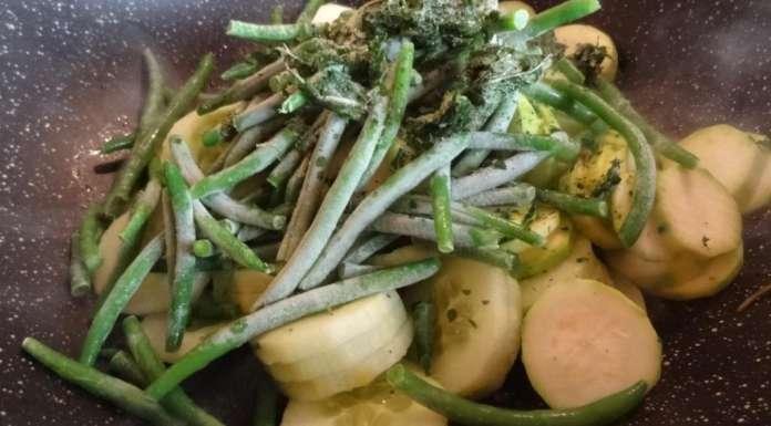 Poêlée de concombre et courgettes à la menthe 8