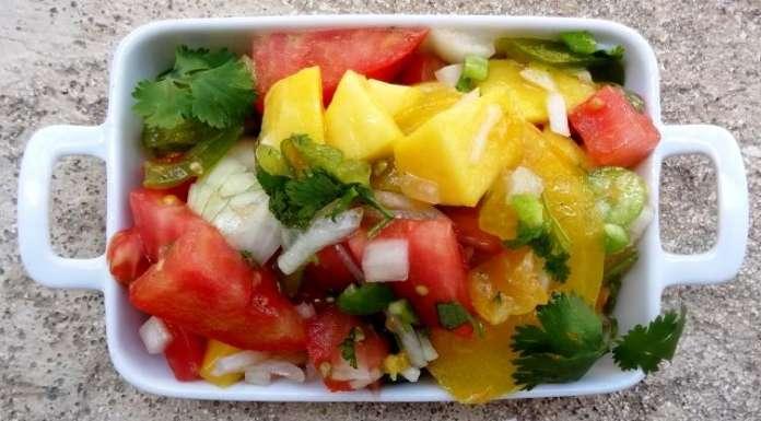 Salade de tomates et mangue 0
