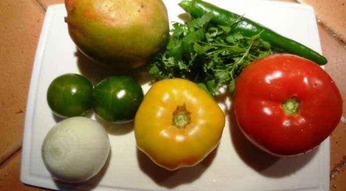 Salade de tomates et mangue 1