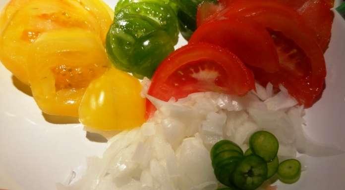 Salade de tomates et mangue 2