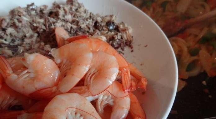 Aubergines au poisson et crevettes 12