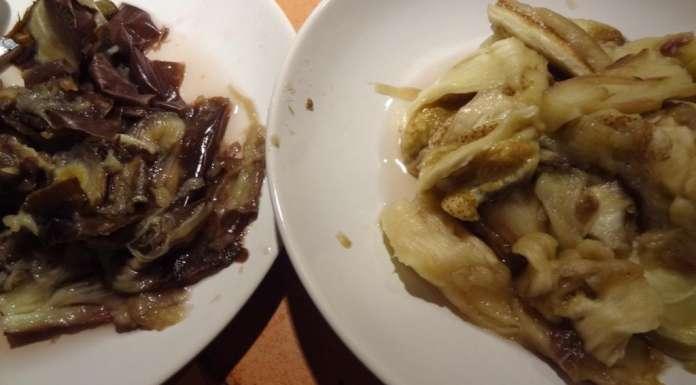 Aubergines au poisson et crevettes 3