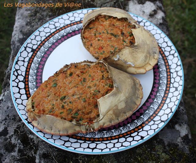 Crabes farcis du Gabon