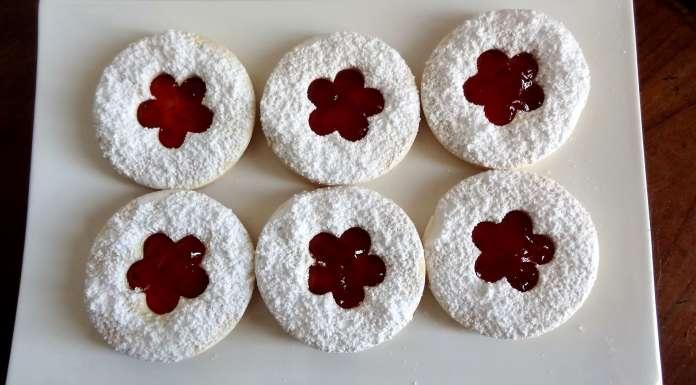 biscuits sans gluten ni lactose à la confiture
