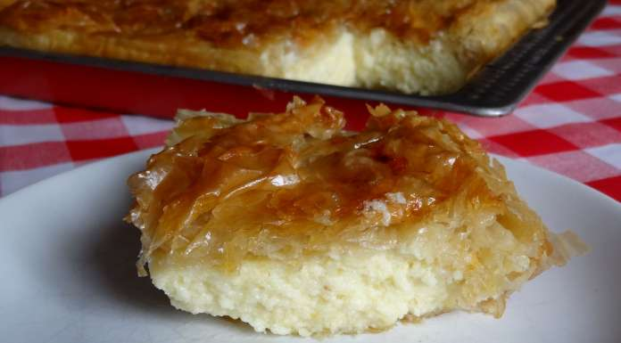 Gâteau de semoule à la pâte filo