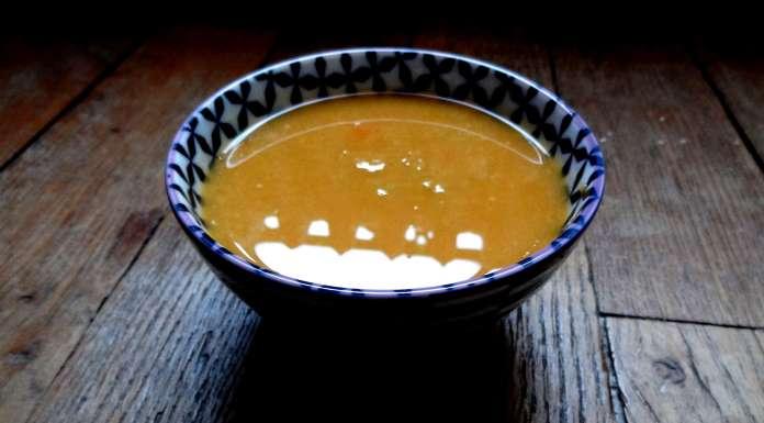 soupe de pois cassés et citrouille