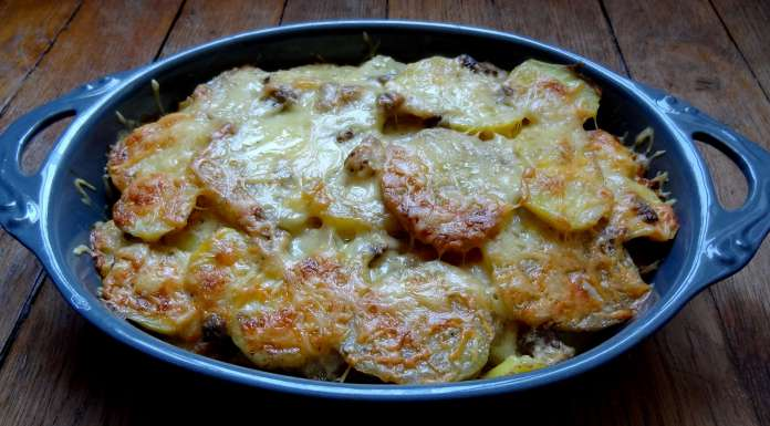 patate douce et pommes de terre aux champignons des bois
