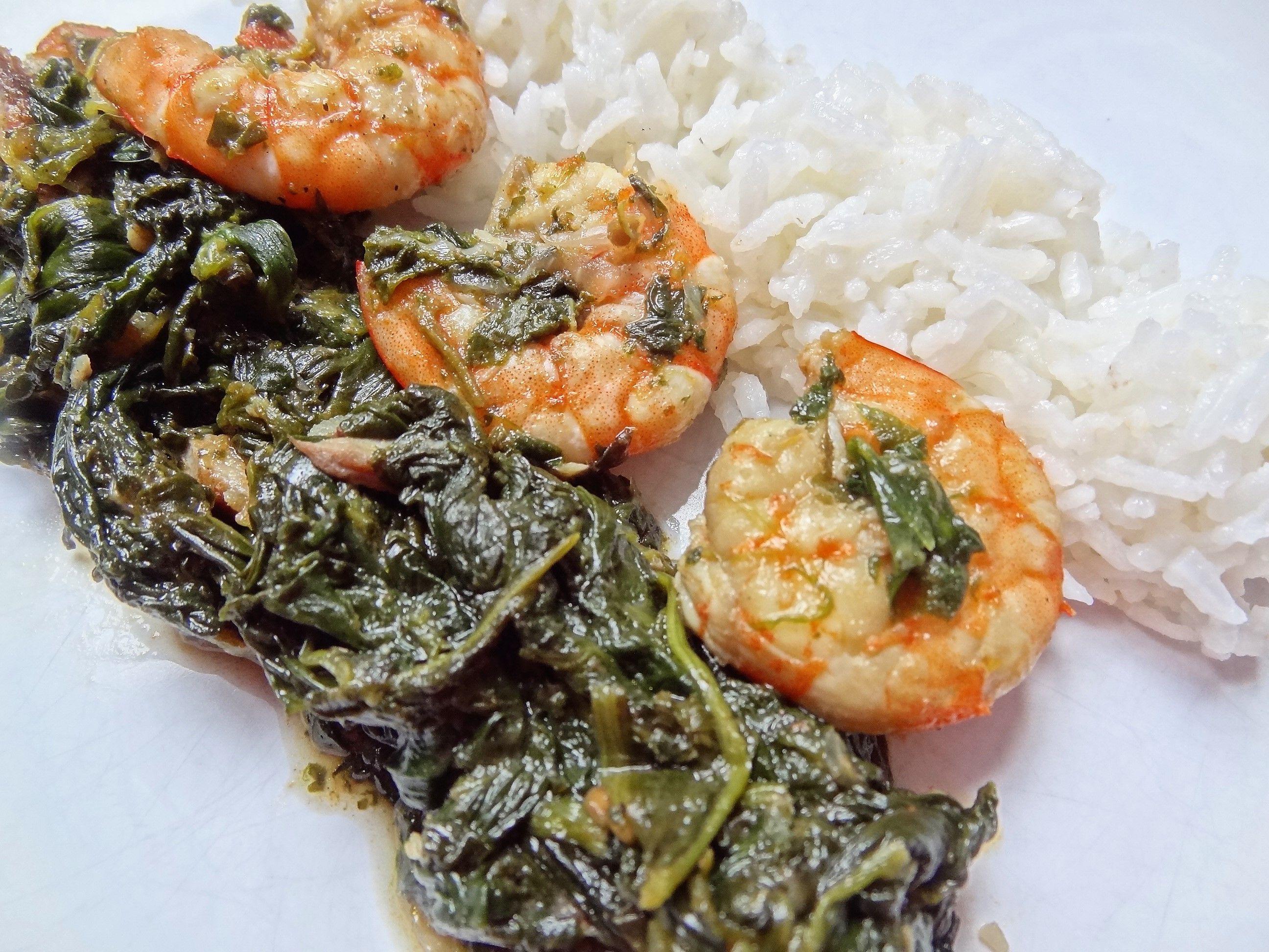 Sauce 233 Pinards Crevettes Et Poisson Fum 233 Gabon La