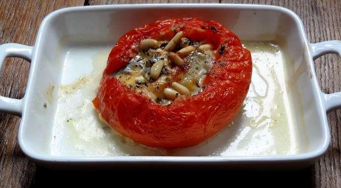 tomates gratinées au chèvre