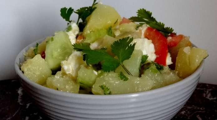 salade de pommes de terre et concombre