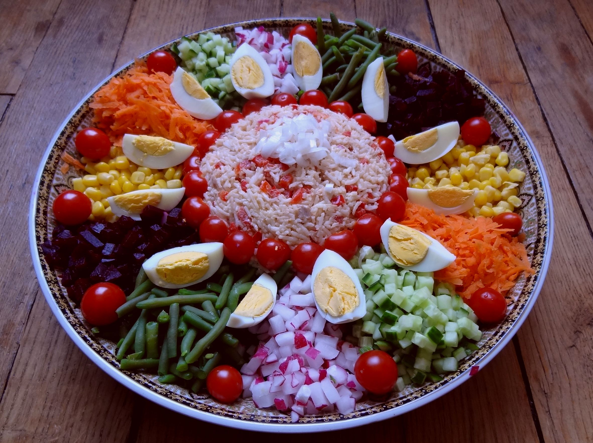 Salade marocaine maroc la tendresse en cuisine for Entrees froides