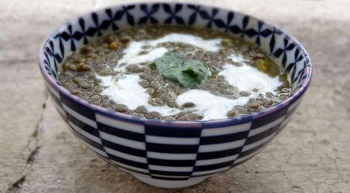soupe aux lentilles vertes