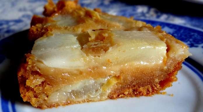 entremets aux poires et caramel au beurre salé