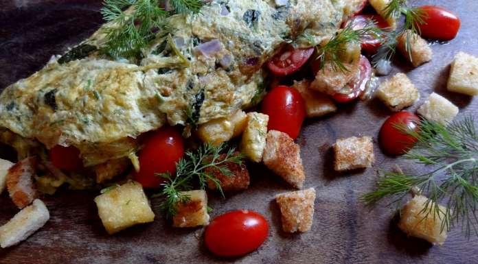 omelette aux fanes de radis