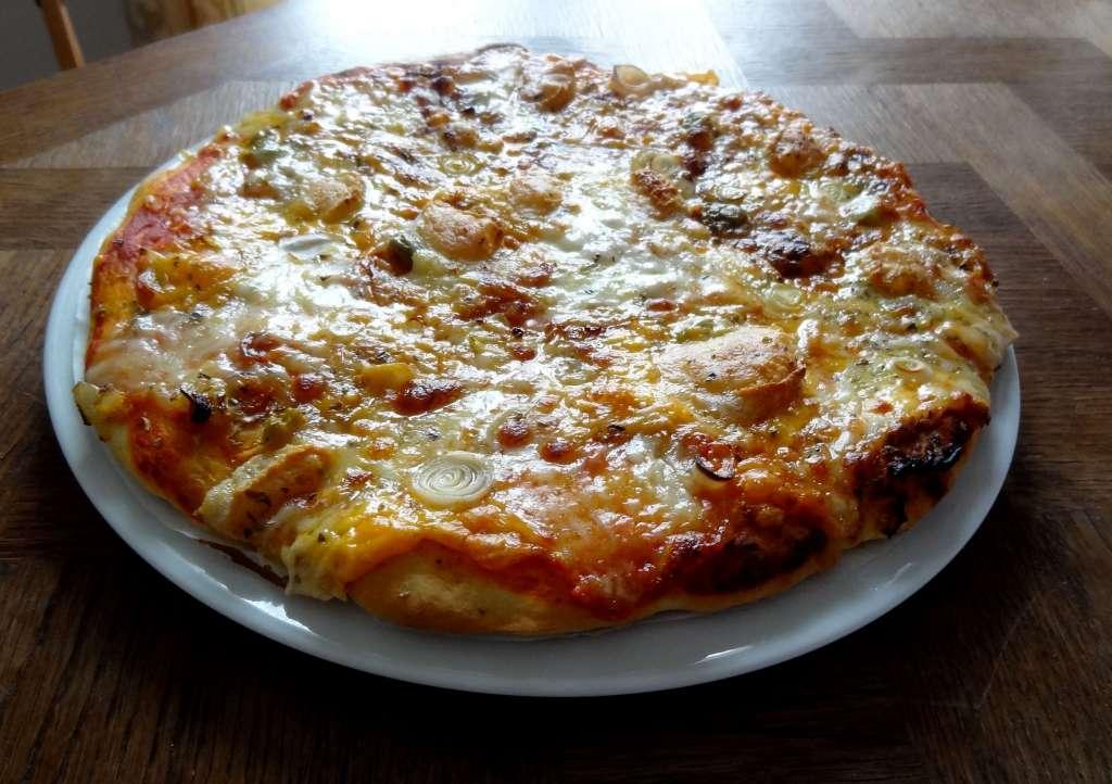 P te pizza rapide p te paisse la tendresse en cuisine - Recette pate a pizza italienne epaisse ...