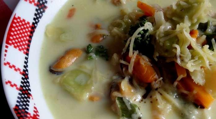 soupe aux moules et ravioles