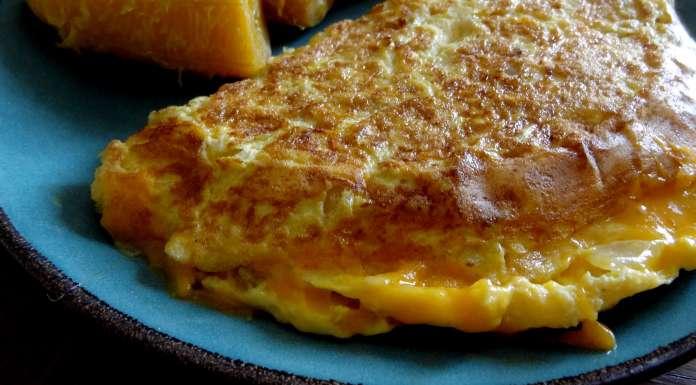 omelette au cheddar