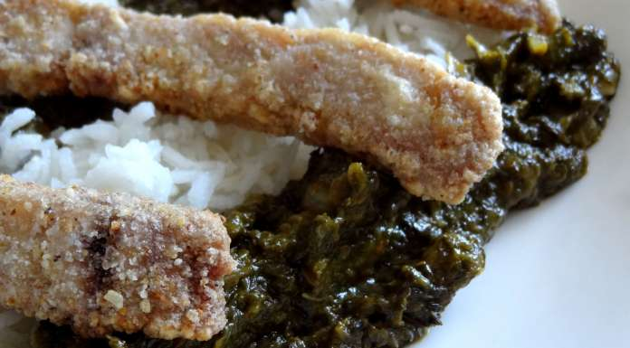 sauce à l'oseille et poisson frit