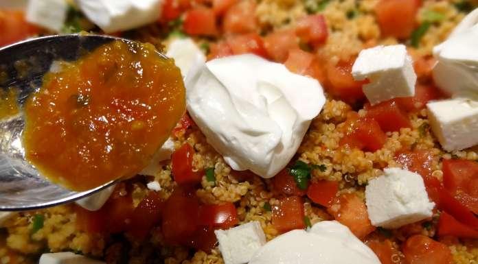 salade de quinoa et couscous d'épeautre