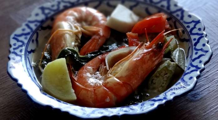 soupe de tamarin aux crevettes