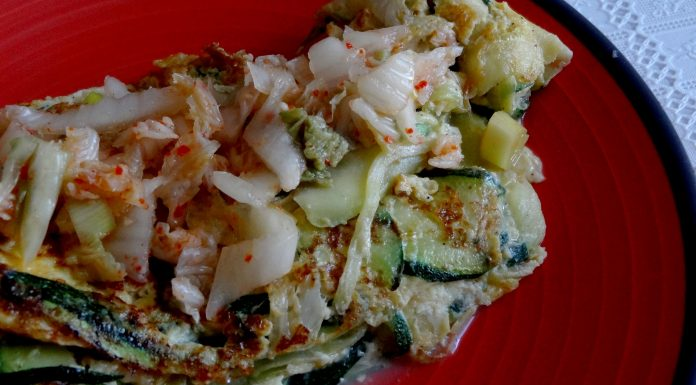 omelette au kimchi