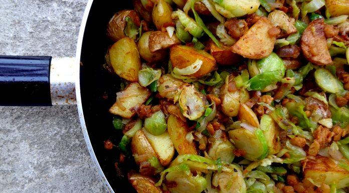 poêlée de tempeh fumé aux légumes