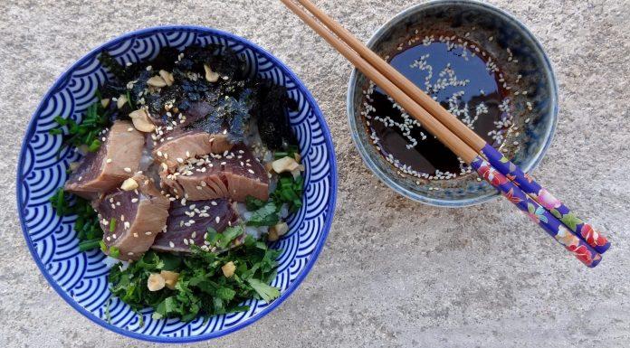 bol de riz et thon mariné